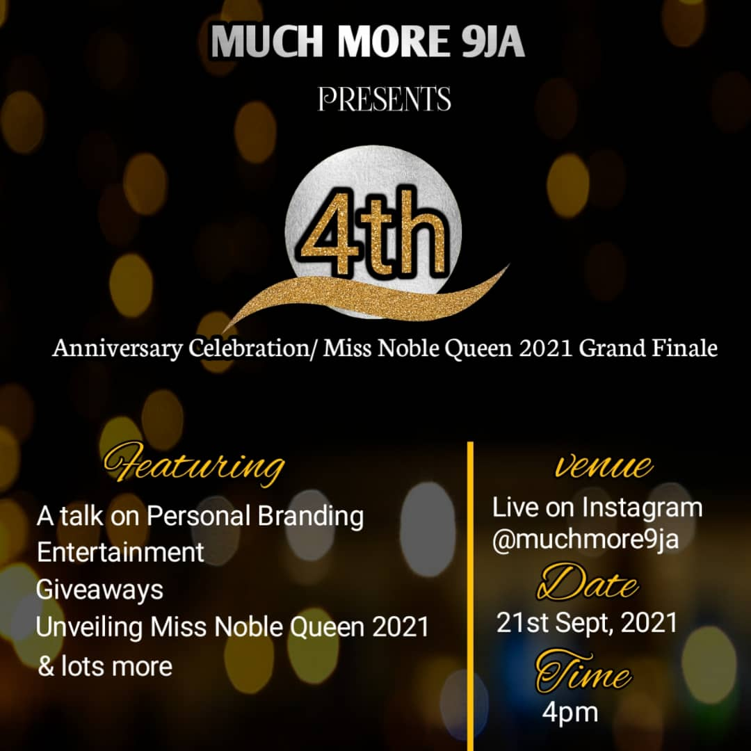 4th Anniversary Celebration / Miss Noble Queen 2021 Grand Finale Event